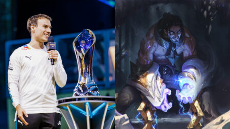 Side by side of Perkz of Cloud9 and Sylas of League of Legends