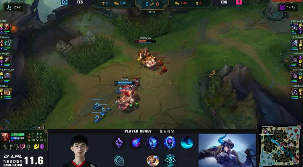 EDG Flandre plays top lane Sejuani with these runes
