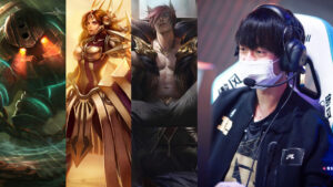 League of legends champions nautilus, leona, sett and rng support ming