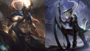 League of Legends champions Pantheon and Diana
