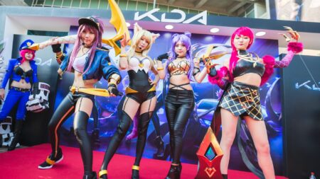 League of Legends, K/DA, cosplay, Pop/Stars, Worlds 2018