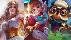 Mobile legends: bang bang heroes, rafaela, angela, and diggie