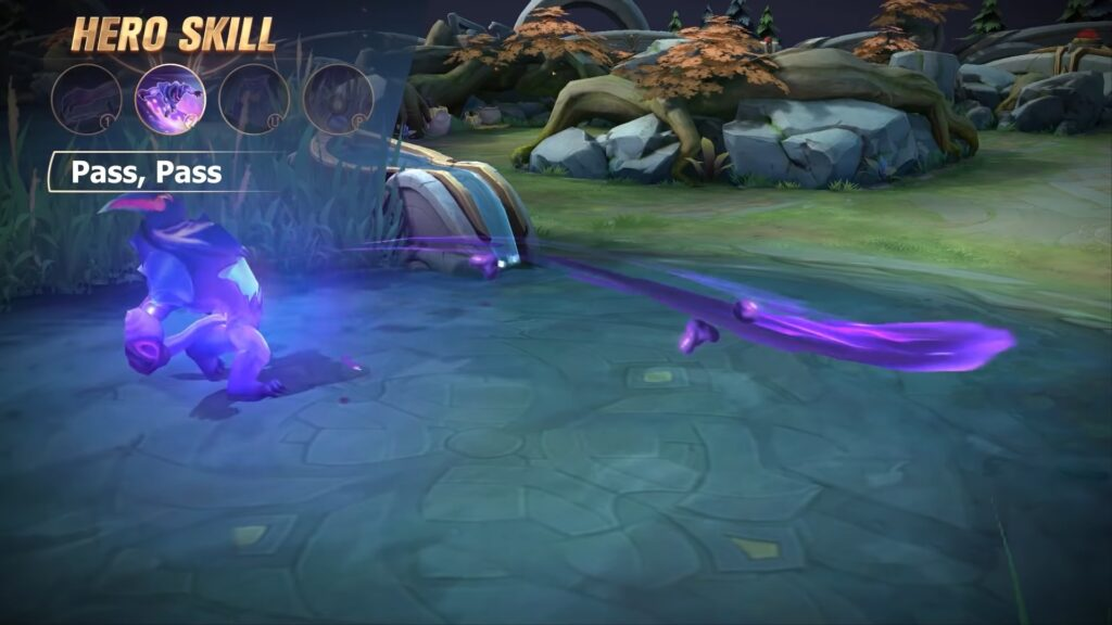MLBB tank hero Gloo's second skill, Slam, Slam