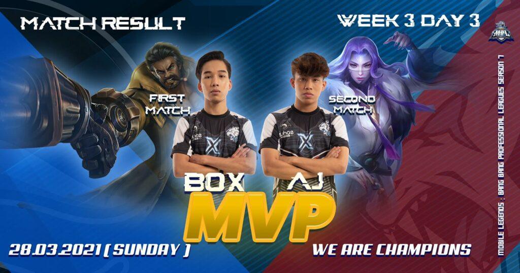 Mlbb team suhaz evos mvp of mpl my s7 week 3, box and aj