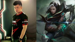 Mobile Legends: Bang Bang Laus PlayBook Esports player Beemo and hero Benedetta