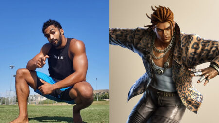 Side by side of Sam Da Flyin Hawaiian and Eddy Gordo of Tekken 7