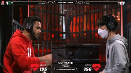 Screenshot of Bilal Ilyas and JDCR in WePlay Ultimate Fighting League