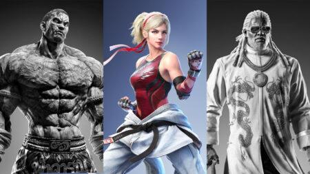 Side by side of Fahkumram, Lidia Sobieska, and Leroy Smith of Tekken 7