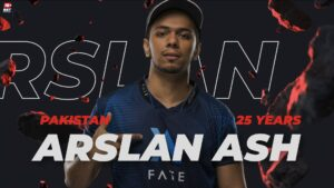 Screenshot of Arslan Ash in the WePlay Ultimate Fighting League