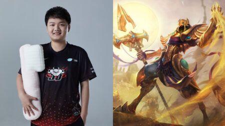 JD Gaming's mid laner Yagao, and his signature champion, Azir