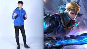 Mobile Legends influencer and Facebook streamer, Sky Wee and MLBB hero, Alucard