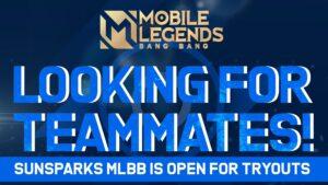 Mobile Legends: Bang Bang, Sunsparks poster tryout