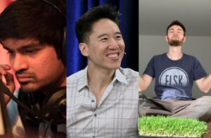 Dnm, Dennis Fong aka Thresh, and Dafran, a collage of former esports pros that have shifted into other careers