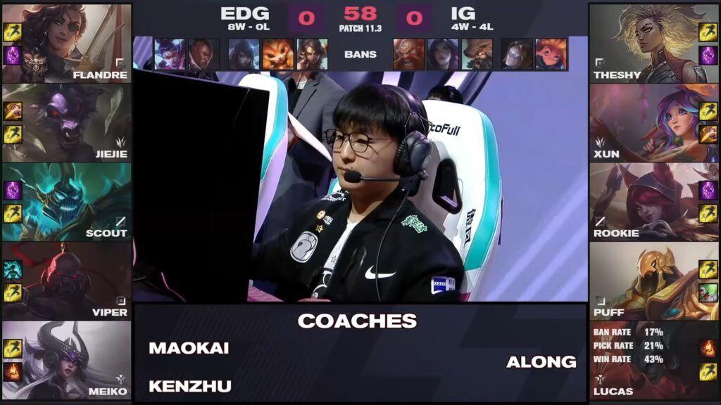 EDG vs IG, LPL Spring 2021, game one draft