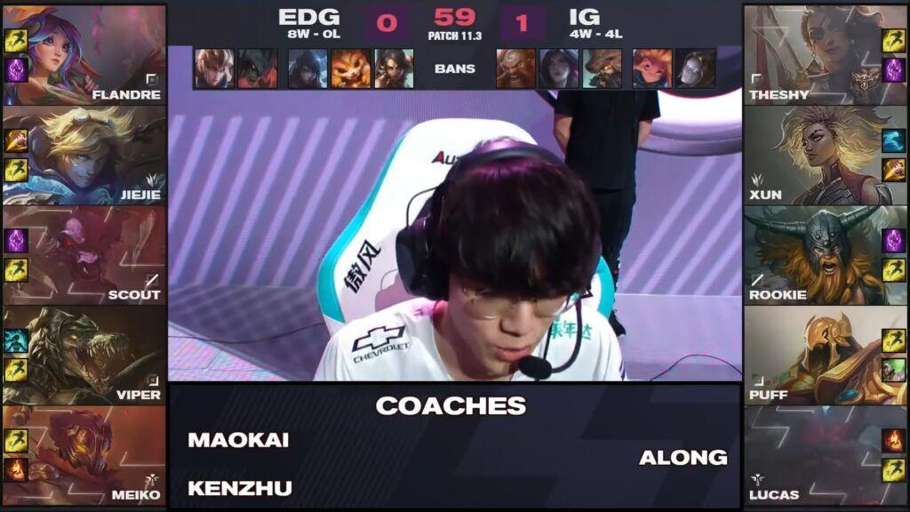 EDG vs IG game two draft, LPL Spring 2021